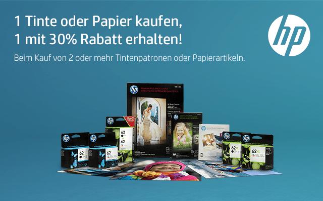 HP 1 Tinte oder Papier kaufen, 1 mit 30% Rabatt erhalten!
