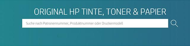 ORGINAL HP TINTEN, TONER & PAPIER