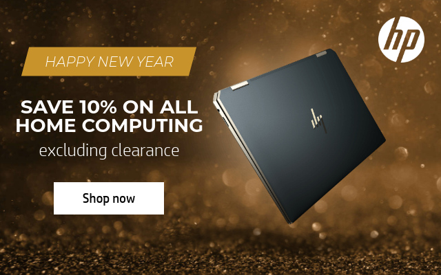 HP HAPPY NEW YEAR SAVE 10% ON ALL HOME COMPUTING